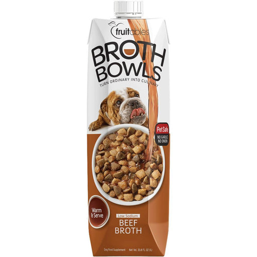 Fruitables® Broth Bowls Pet Safe Natural Food Topper (Beef) exxab.com