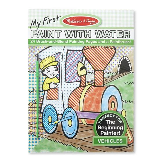 Melissa A Doug 9339 Paint with water, Vehicles & painting pages exxab.com