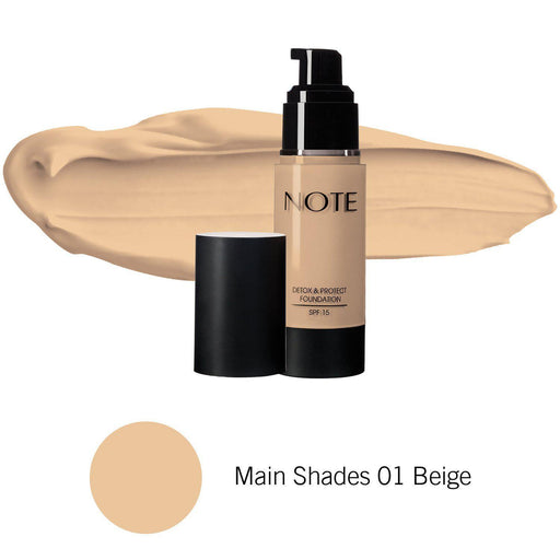 Note Detox and Protect Foundation 35 ml exxab.com