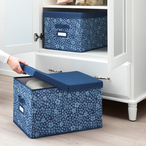 STORSTABBE Fabric Clothes Box with lid 50 cm exxab.com
