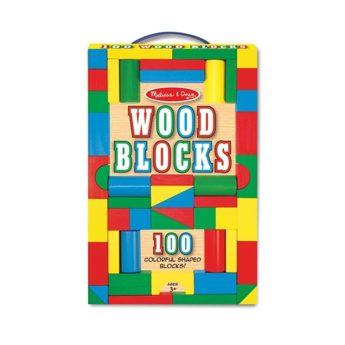 Melissa A Doug 481 set of 100 Piece Wood Blocks exxab.com