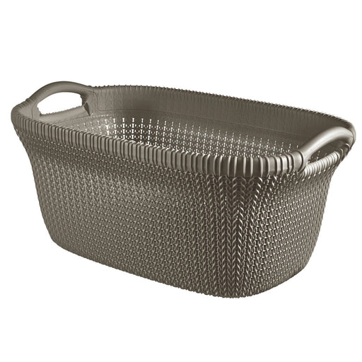 Curver knit laundry basket 40L brown 3677