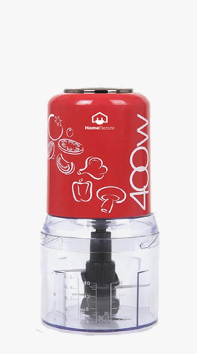 Home Electric T-617 Plastic Chopper 400W 0.5L Red - exxab.com