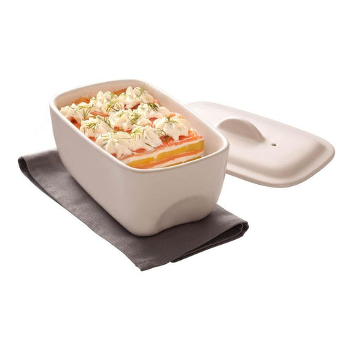 Pyrex CU17RT8 Curves White ceramic rectangular Casserole