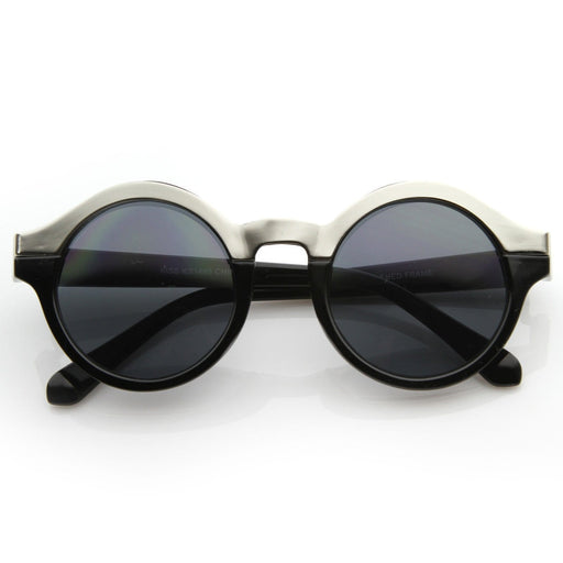 ZeroUV Women's Designer Two Tone Round Sunglasses