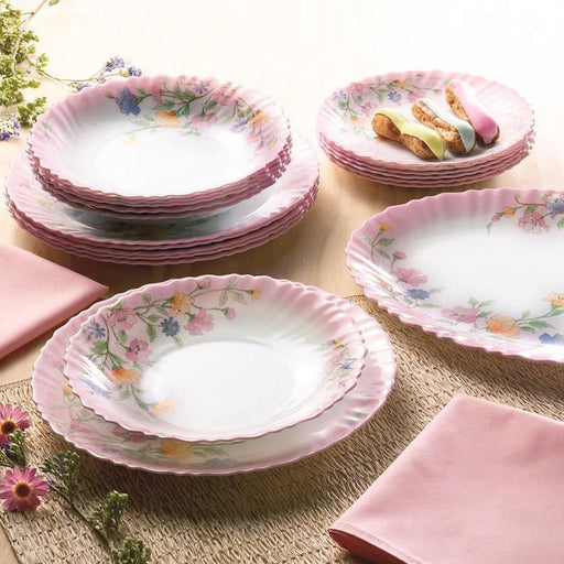 Luminarc dinner set feston rose elise 19 Pcs exxab.com