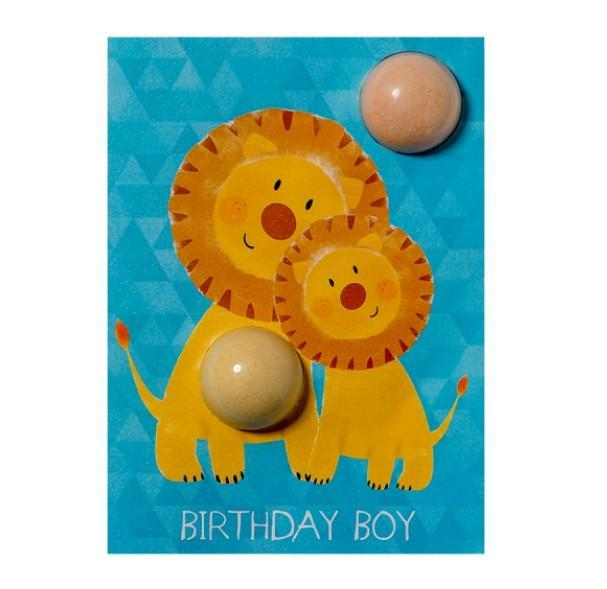 Birthday Boy Lion Blaster Cards - exxab.com