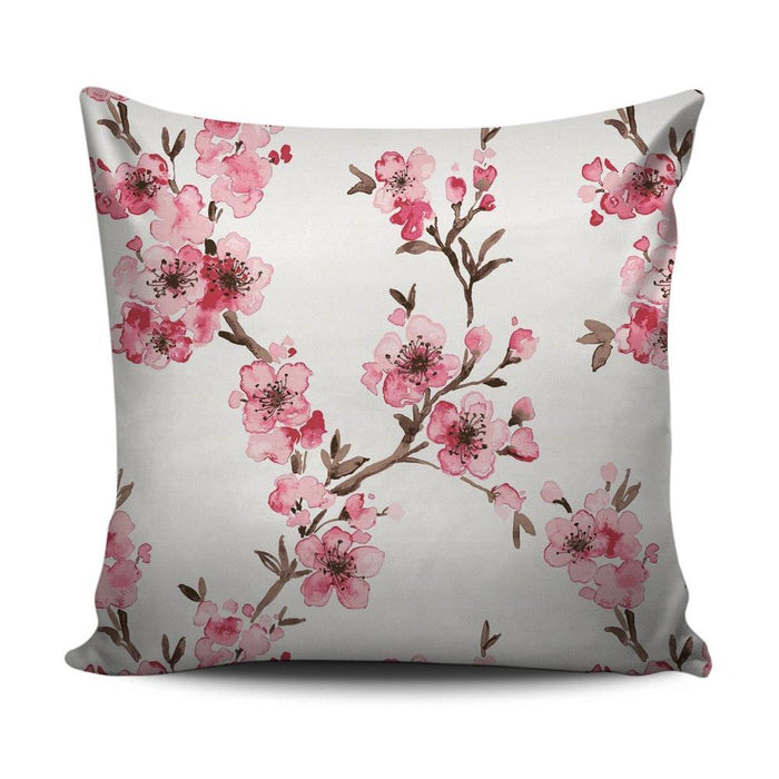 Home decoration cushion with pink blossom pattern - exxab.com