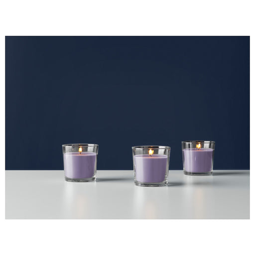 Scented Candle in Glass, Blackberry, lilac exxab.com