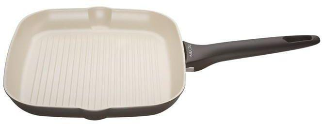 Pedrini 9507 Ceramic Square Griddle, soft Touch, Black Color, Black, Bakalite Handle,  28 cm exxab.com
