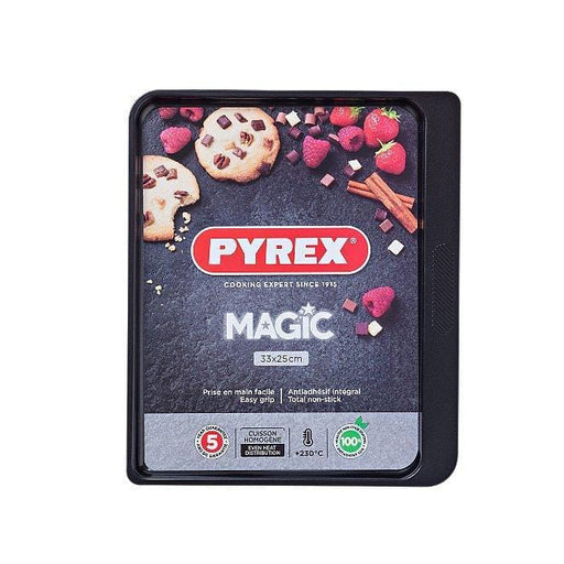 Pyrex MG33BV6 Magic Rectangular Baking Tray Carbon Steel exxab.com