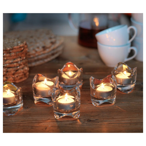 Clear Glass Tealight Candle Holder exxab.com
