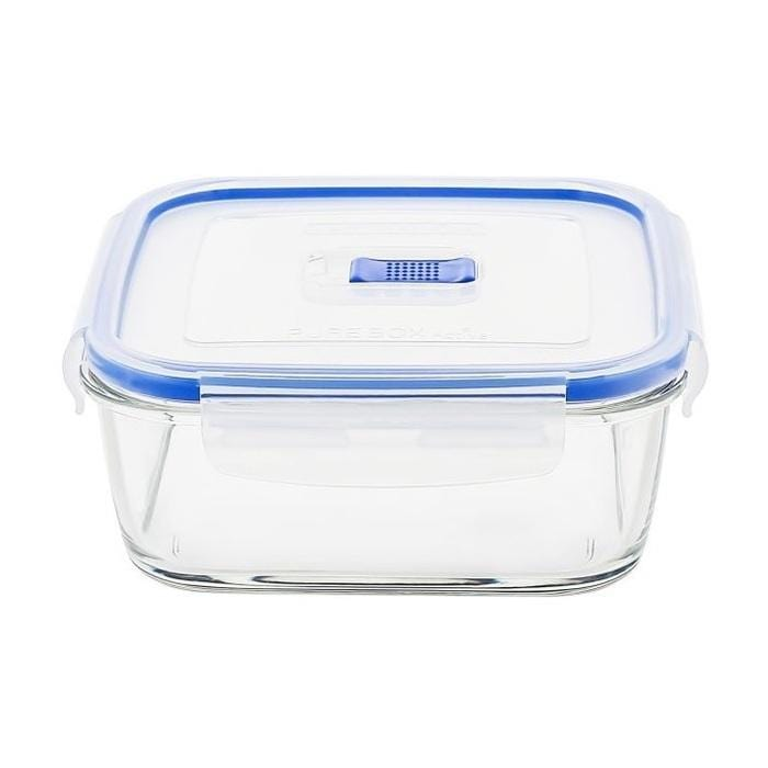 Luminarc Pure square cook & store glass container with Plastic lid exxab.com