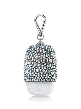 Bath and Body Works hand sanitizer Silver Glitter holder exxab.com