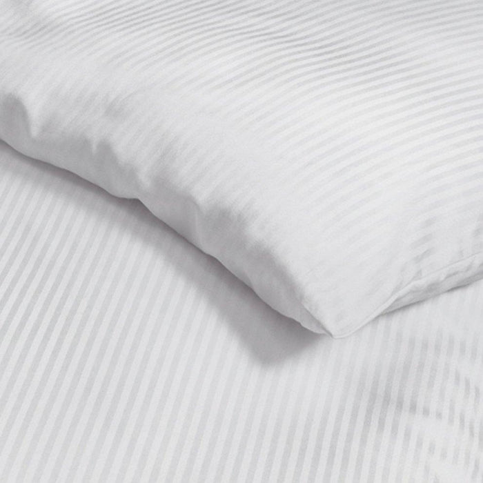 Hotel luxury single white bed sheets set 300 TC 100% cotton exxab.com