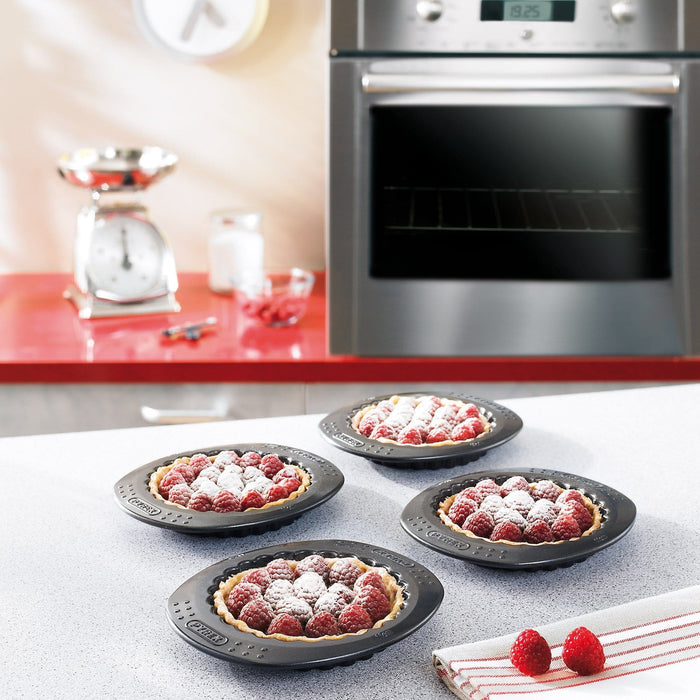 Pyrex MBCST11 Classic metal bake ware Set of 4 Tartlets exxab.com