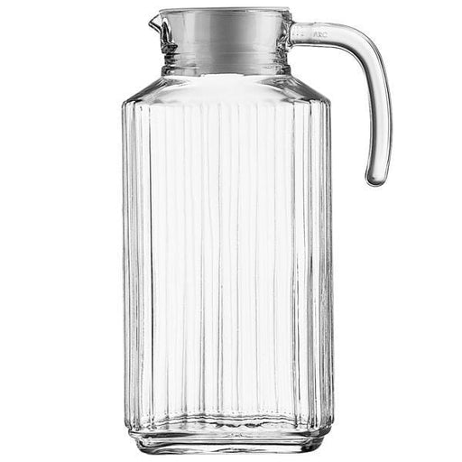 Luminarc 30629 Quadro pitcher jug with white lid, 1.7 Liter exxab.com