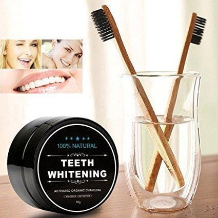 Teeth Whitening Cleansing Powder With 2 Pieces Toothbrushes - exxab.com