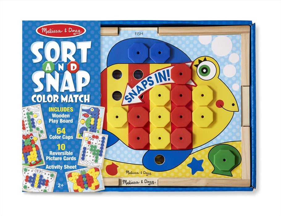 Melissa A Doug 4313 Sort And Snap Color Match with 10 cards exxab.com