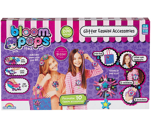 NEW BOY 161837 BLOOM POPS GLITTER FASHION ACCESSORIES