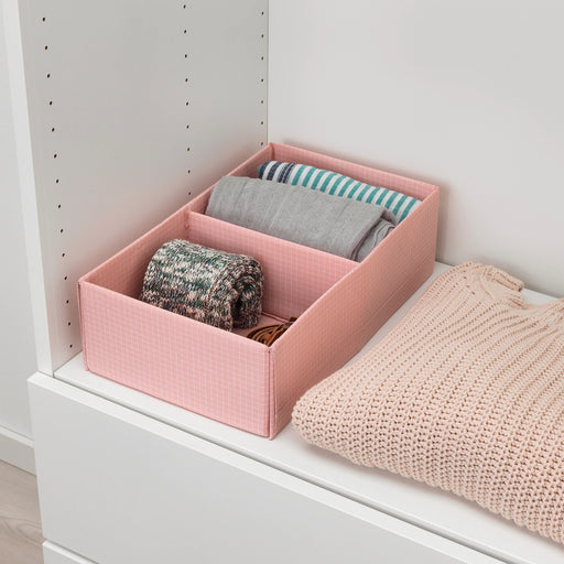 Stuk Fabric Clothes Storage Box With Two Compartments exxab.com