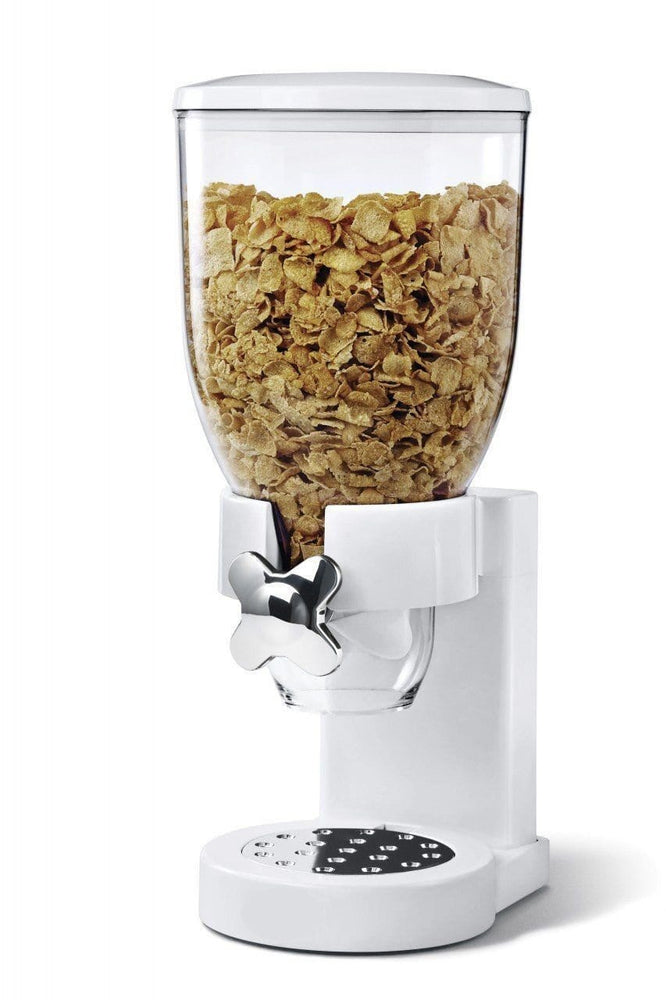 Fresh & easy classic dry food cereal dispenser double (white) exxab.com