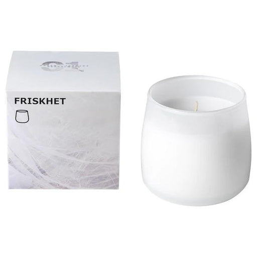 Scented Candle In Glass, Linen Breeze White exxab.com