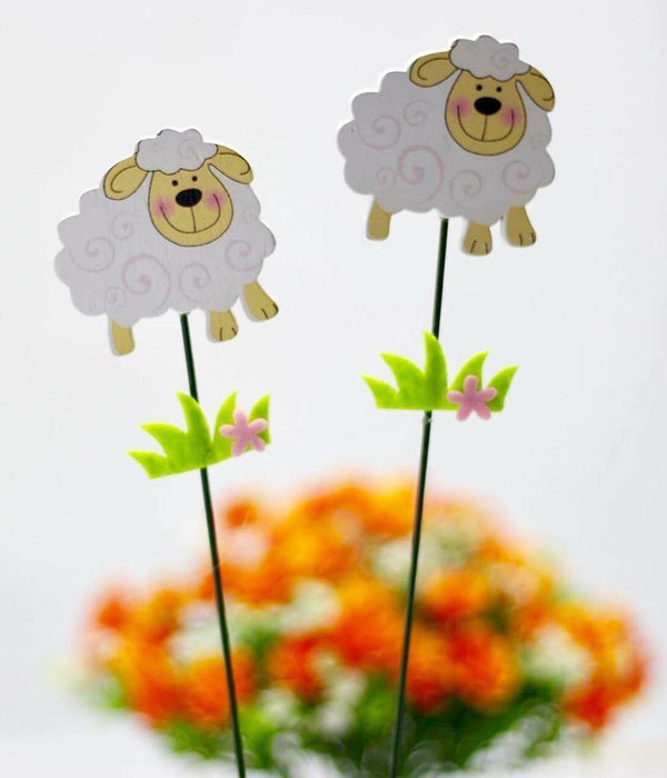 Eid AlAdha Sheep Decoration Board Sticks 2 pcs - exxab.com