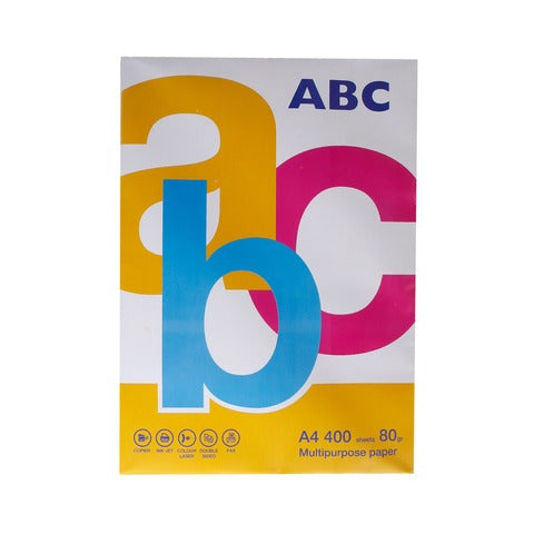 ABC Paper A4 Multi Use 80g 400 Sheets exxab.com