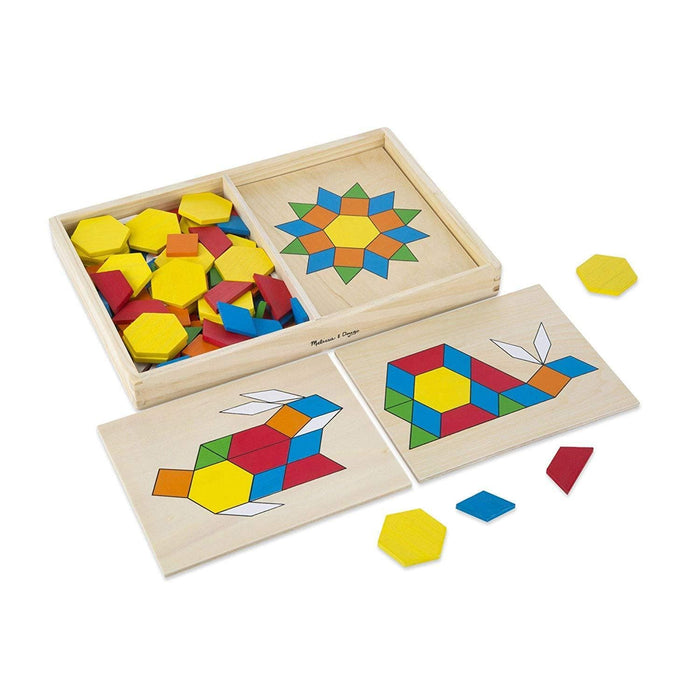 Melissa A Doug 29 Pattern Blocks And Boards 120 wooden blocks exxab.com