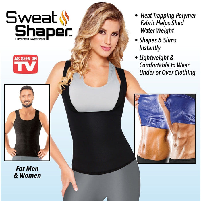 Sweat Shaper Sauna Vest For Weight Loss - exxab.com