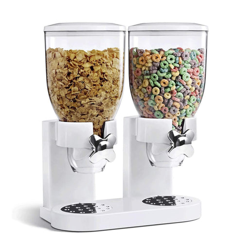 Fresh & easy classic dry food cereal dispenser double exxab.com