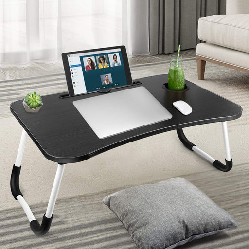 Portable  Foldable Laptop Table With Cup Holder exxab.com