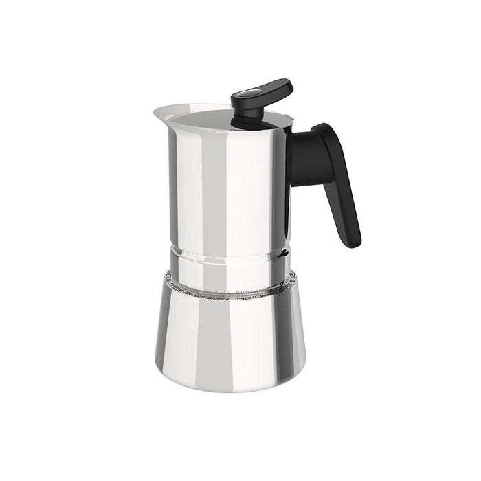 Pedrini 02CF036 Coffee Maker S/s W/ Stainless Cover Bakalite Black Handle Mirror polishing - Safety Valve - Gift Box exxab.com