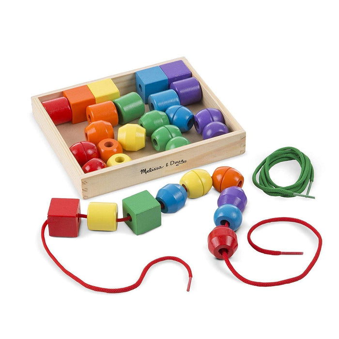 Melissa A Doug 544 Primary Lacing Beads with 30 colored beads exxab.com