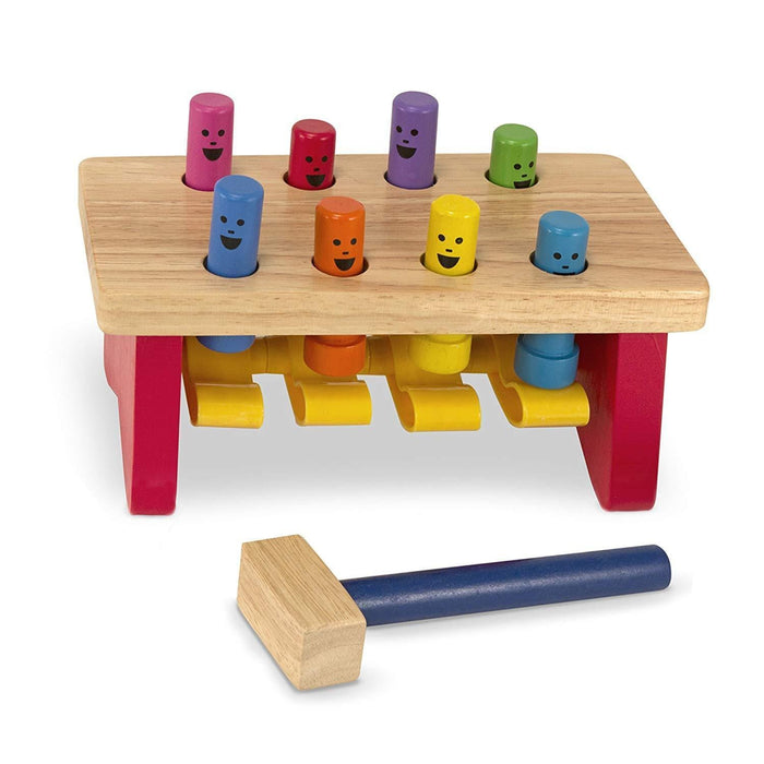Melissa A Doug 4490 Deluxe Pounding Bench with wooden hammer exxab.com
