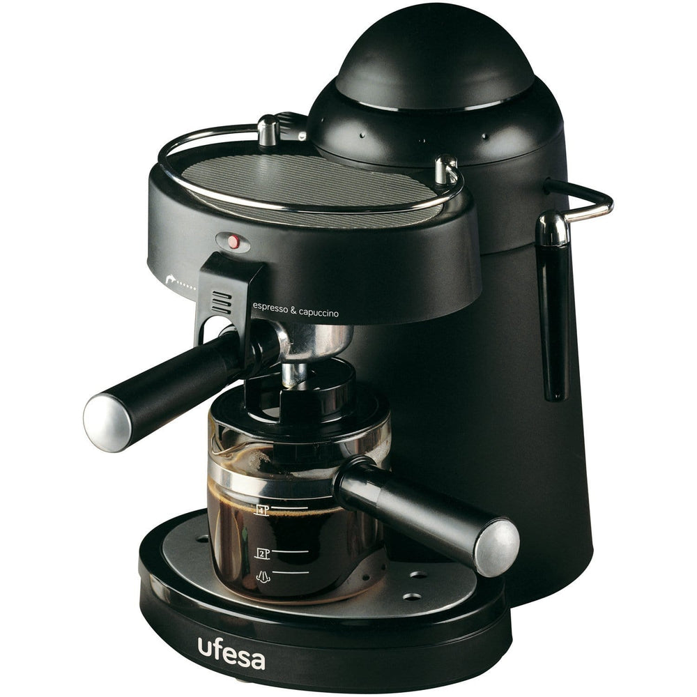 UFESA CE7115 Black 2-4 Cups Espresso & Cappuccino Coffee Maker 750 Watt