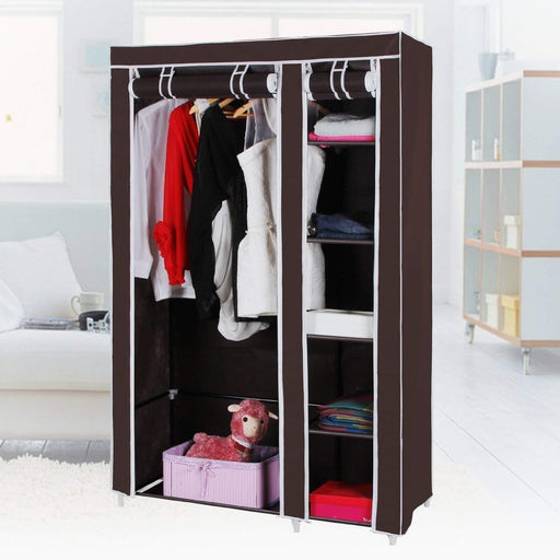 Fabric Folding Wardrobe Cabinet 2 doors exxab.com