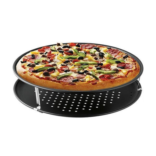 Zenker 7512 pizza pan oven non-stick coating tray 6 pieces round 32 cm exxab.com