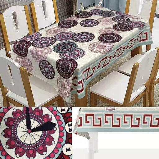 Waterproof patterned Tablecloth exxab.com