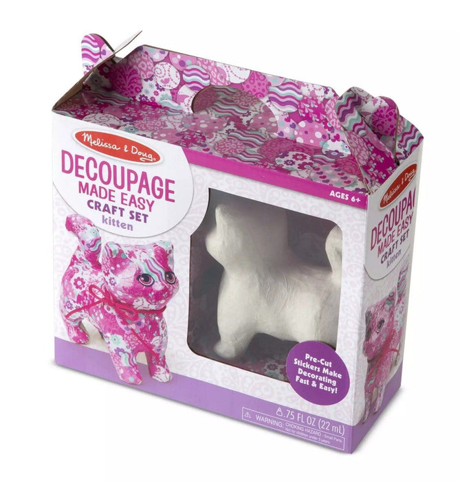 Melissa A Doug 30101 Decoupage Made Easy Kitten Paper exxab.com