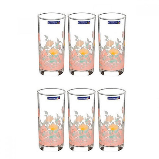 Luminarc 75465 water cups with floral print  270 ml