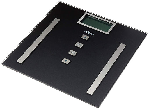 Ufesa BE0910 glass bathroom digital body weight scale for measure fat,muscle,body water and BMI, max 180 kg BE0910