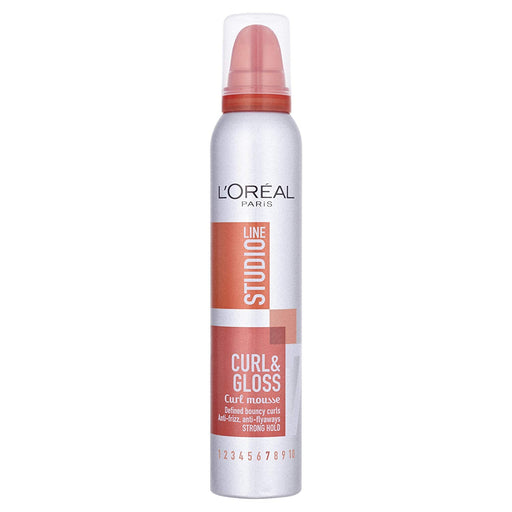 L'Oreal Studio Line Curl & Gloss Curl Strong Hold 7 Mousse 200 Ml - exxab.com