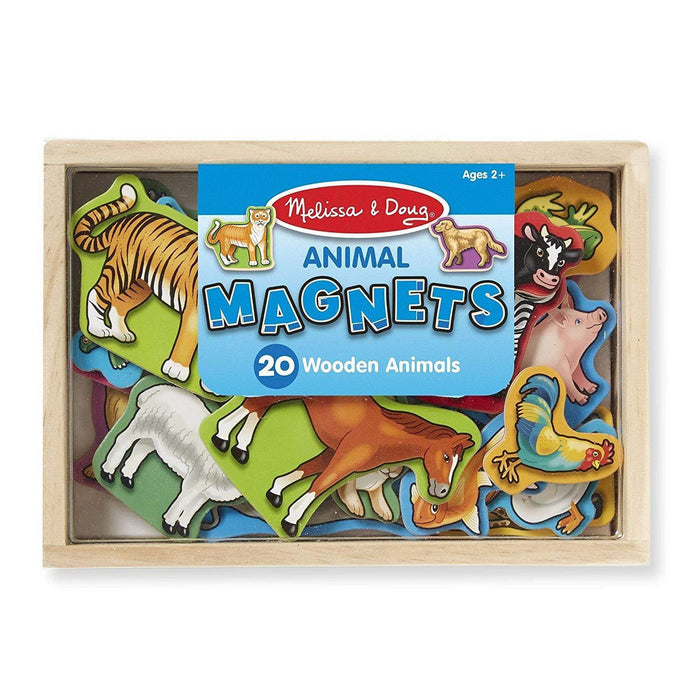 Melissa A Doug 475 Wooden Animal Magnets with 20 animals exxab.com