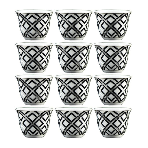 Arabic coffee cups Black 12 pcs