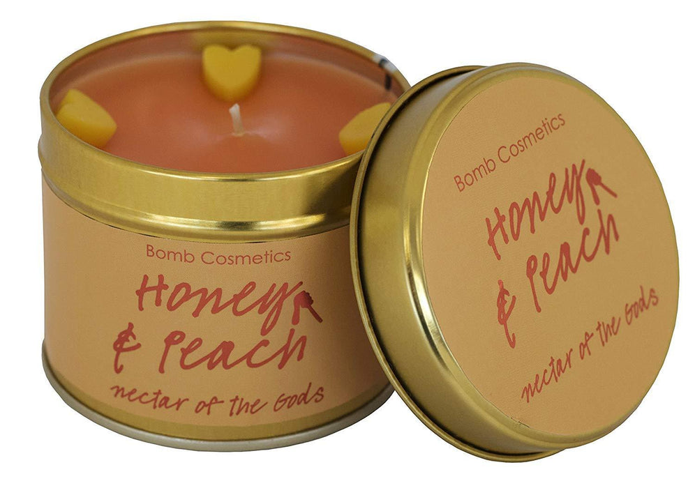 Honey & Peach Tin Candle - exxab.com