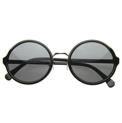 ZeroUV 8407 Vintage steampunk classic round sunglasses exxab.com