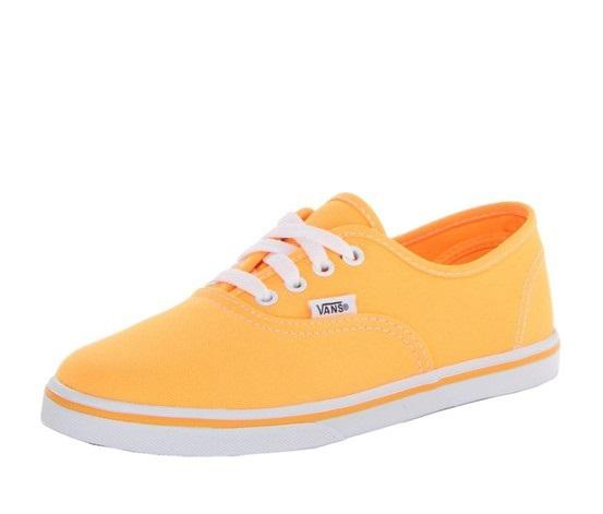 Vans Kids Authentic Lo Pro (Neon) Orange Pop