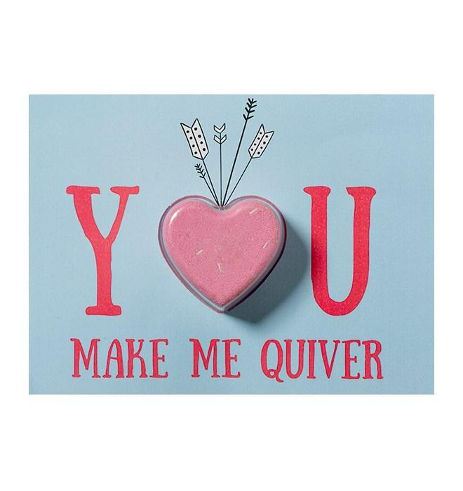 You Make me Quiver Blaster Card - exxab.com